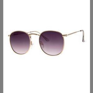 NWT A.J. MORGAN Gold & Purple Round Sunglasses